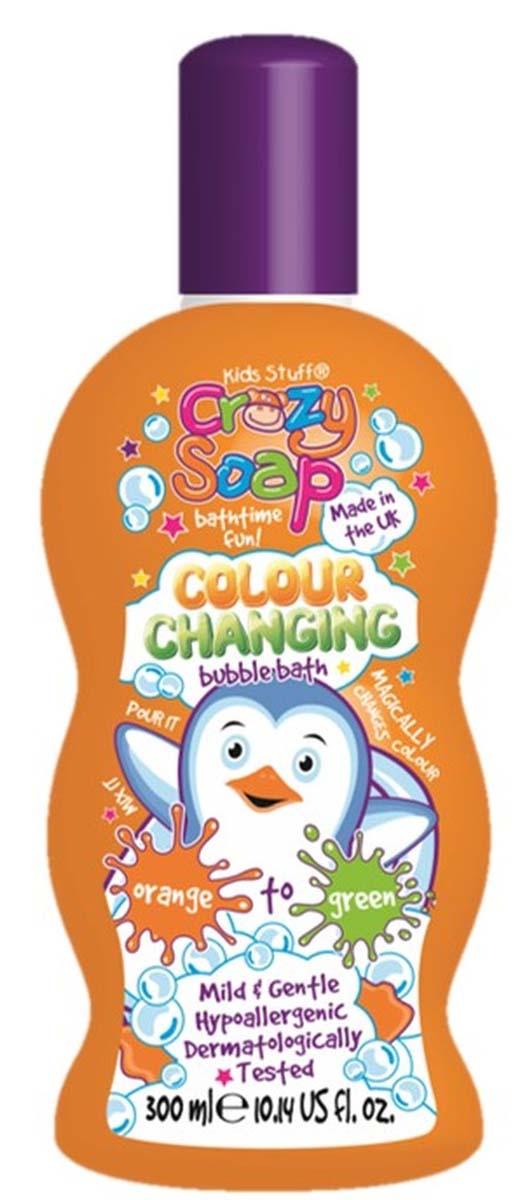 Kids Stuff Волшебная пена для ванны, меняющая цвет (из оранжевого в зеленый), 300 мл52194Смешайте пену с водой в ванной и наблюдайте, как происходит магическое превращение цвета из оранжевого в зеленый прямо на Ваших глазах! Нежная пена с тонким фруктовым ароматом мягко очищает и увлажняет кожу. Не содержит парабены. Гипоаллергенное средство, протестировано дерматологами.