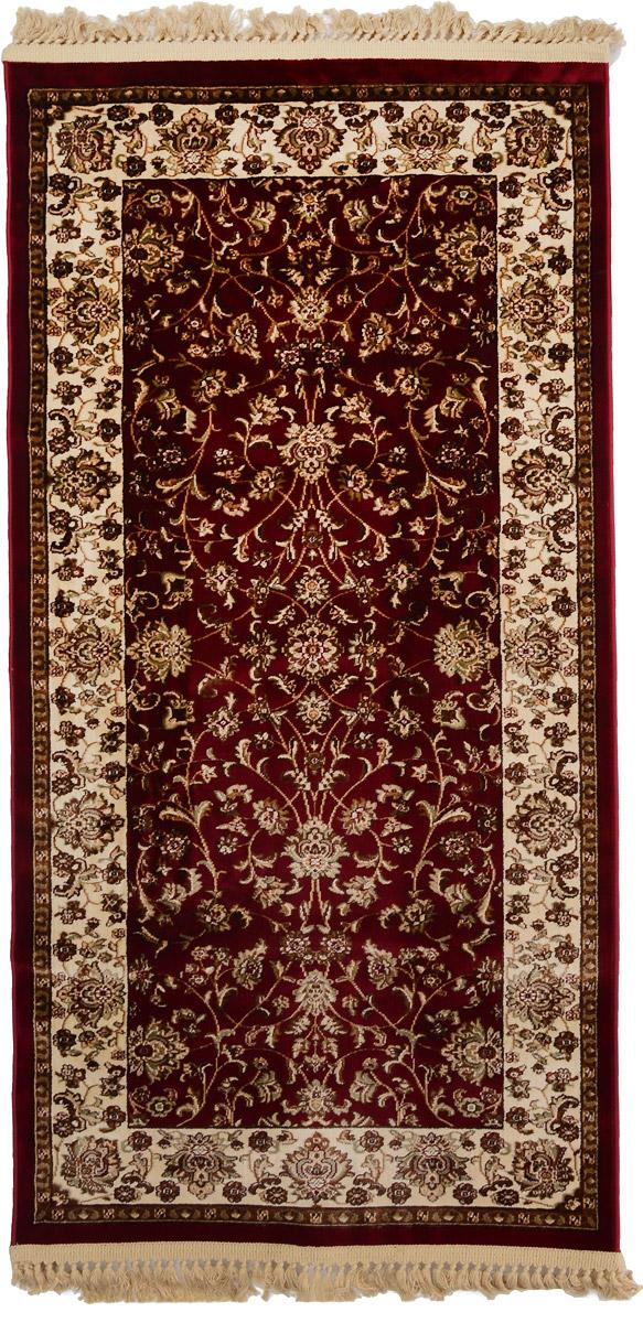 Ковер Mutas Carpet Силк, прямоугольный, цвет: красный, бежевый, 80 х 150 см28171Т20121018155050Ковер Mutas Carpet Силк изготовлен из прочного полипропилена. Полипропилен износостоек, нетоксичен, не впитывает влагу, не провоцирует аллергию. Структура волокна в полипропиленовых коврах гладкая, поэтому грязь не будет въедаться и скапливаться на ворсе. Практичный и износоустойчивый ворс не истирается и не накапливает статическое электричество. Ковер обладает хорошими показателями теплостойкости и шумоизоляции. Оригинальный рисунок позволит гармонично оформить интерьер комнаты, гостиной или прихожей. За счет невысокого ворса ковер легко чистить. При надлежащем уходе синтетический ковер прослужит долго, не утратив ни яркости узора, ни блеска ворса, ни упругости. Самый простой способ избавить изделие от грязи - пропылесосить его с обеих сторон (лицевой и изнаночной). Влажная уборка с применением шампуней и моющих средств не противопоказана. Хранить рекомендуется в свернутом рулоном виде.