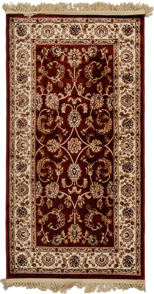 Ковер Mutas Carpet Силк, прямоугольный, цвет: бордовый, бежевый, белый, 80 х 150 см18031Т20121018150756Ковер Mutas Carpet Силк изготовлен из прочного полипропилена. Полипропилен износостоек, нетоксичен, не впитывает влагу, не провоцирует аллергию. Структура волокна в полипропиленовых коврах гладкая, поэтому грязь не будет въедаться и скапливаться на ворсе. Практичный и износоустойчивый ворс не истирается и не накапливает статическое электричество. Ковер обладает хорошими показателями теплостойкости и шумоизоляции. Оригинальный рисунок позволит гармонично оформить интерьер комнаты, гостиной или прихожей. За счет невысокого ворса ковер легко чистить. При надлежащем уходе синтетический ковер прослужит долго, не утратив ни яркости узора, ни блеска ворса, ни упругости. Самый простой способ избавить изделие от грязи - пропылесосить его с обеих сторон (лицевой и изнаночной). Влажная уборка с применением шампуней и моющих средств не противопоказана. Хранить рекомендуется в свернутом рулоном виде.