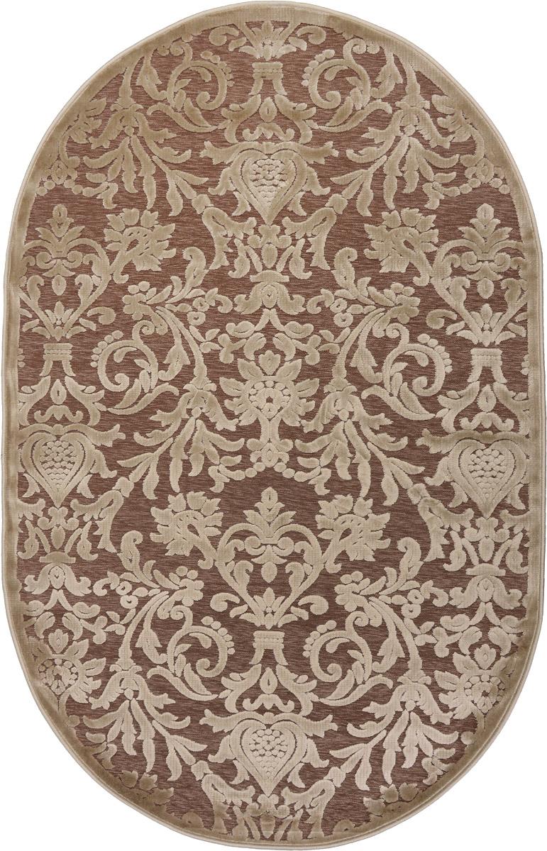 Ковер ART Carpets Платин, овальный, цвет: бежевый, 120 х 180 см203420130212182796Ковер ART Carpets Платин изготовлен из 100% акрила. Структура волокна гладкая, поэтому грязь не будет въедаться и скапливаться на ворсе. Практичный и Ф износоустойчивый ворс не истирается и не накапливает статическое электричество. Ковер обладает хорошими показателями теплостойкости и шумоизоляции. Оригинальный рисунок позволит гармонично оформить интерьер комнаты, гостиной или прихожей. За счет невысокого ворса ковер легко чистить. При надлежащем уходе ковер прослужит долго, не утратив ни яркости узора, ни блеска ворса, ни упругости. Самый простой способ избавить изделие от грязи - пропылесосить его с обеих сторон (лицевой и изнаночной). Хранить рекомендуется в свернутом рулоном виде.