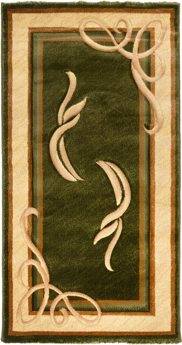 Ковер Emirhan Imperial Carving, прямоугольный, цвет: зеленый, бежевый, коричневый, 80 х 150 см203420130212179856Ковер Emirhan Imperial Carving изготовлен из прочного синтетического материала heat-set, улучшенного варианта полипропилена (эта нить получается в результате его дополнительной обработки). Полипропилен износостоек, нетоксичен, не впитывает влагу, не провоцирует аллергию. Структура волокна в полипропиленовых коврах гладкая, поэтому грязь не будет въедаться и скапливаться на ворсе. Практичный и износоустойчивый ворс не истирается и не накапливает статическое электричество. Ковер обладает хорошими показателями теплостойкости и шумоизоляции. Оригинальный рисунок позволит гармонично оформить интерьер комнаты, гостиной или прихожей. За счет невысокого ворса ковер легко чистить. При надлежащем уходе синтетический ковер прослужит долго, не утратив ни яркости узора, ни блеска ворса, ни упругости. Самый простой способ избавить изделие от грязи - пропылесосить его с обеих сторон (лицевой и изнаночной). Влажная уборка с применением ...