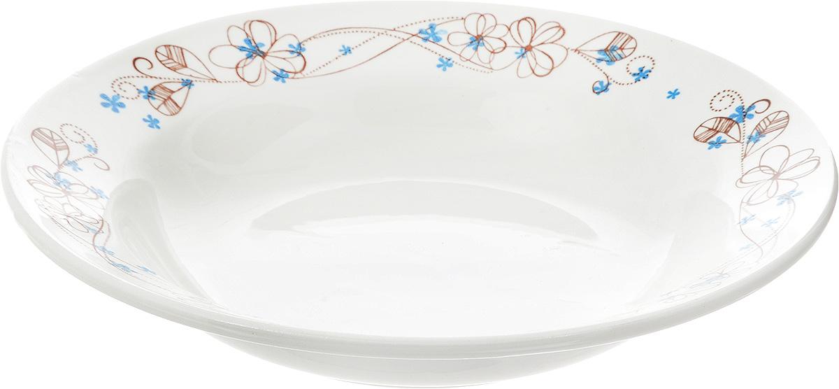 Тарелка глубокая Кубаньфарфор Веточка, диаметр 20 см055_ВеточкаГлубокая тарелка Кубаньфарфор Веточка изготовлена из высококачественного фаянса. Она украшена ярким рисунком. Такая тарелка сочетает в себе изысканный дизайн с максимальной функциональностью. Тарелка прекрасно впишется в интерьер вашей кухни и станет достойным подарком к любому празднику. Диаметр тарелки (по верхнему краю): 20 см. Высота тарелки: 4 см.