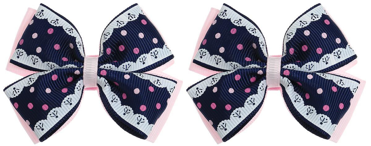 Babys Joy Резинка для волос Бант цвет светло-розовый темно-синий белый 2 шт MN 75/2MN 75/2_светло-розовый, темно-синий, белыйРезинки для волос Babys Joy изготовлена из декоративных лент в виде двойного банта, розового цвета и темно-синего в розовый горох. Резинка для волос Babys Joy надежно зафиксирует волосы и подчеркнет красоту прически вашей маленькой модницы. В упаковке: 2 резинки. Рекомендовано для детей старше трех лет.