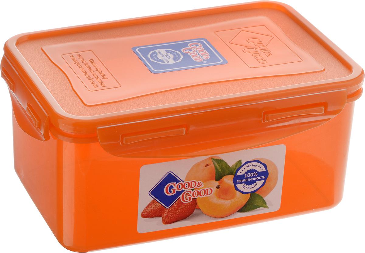 Контейнер для пищевых продуктов Good&Good, цвет: оранжевый, 1,5 л3-2 О