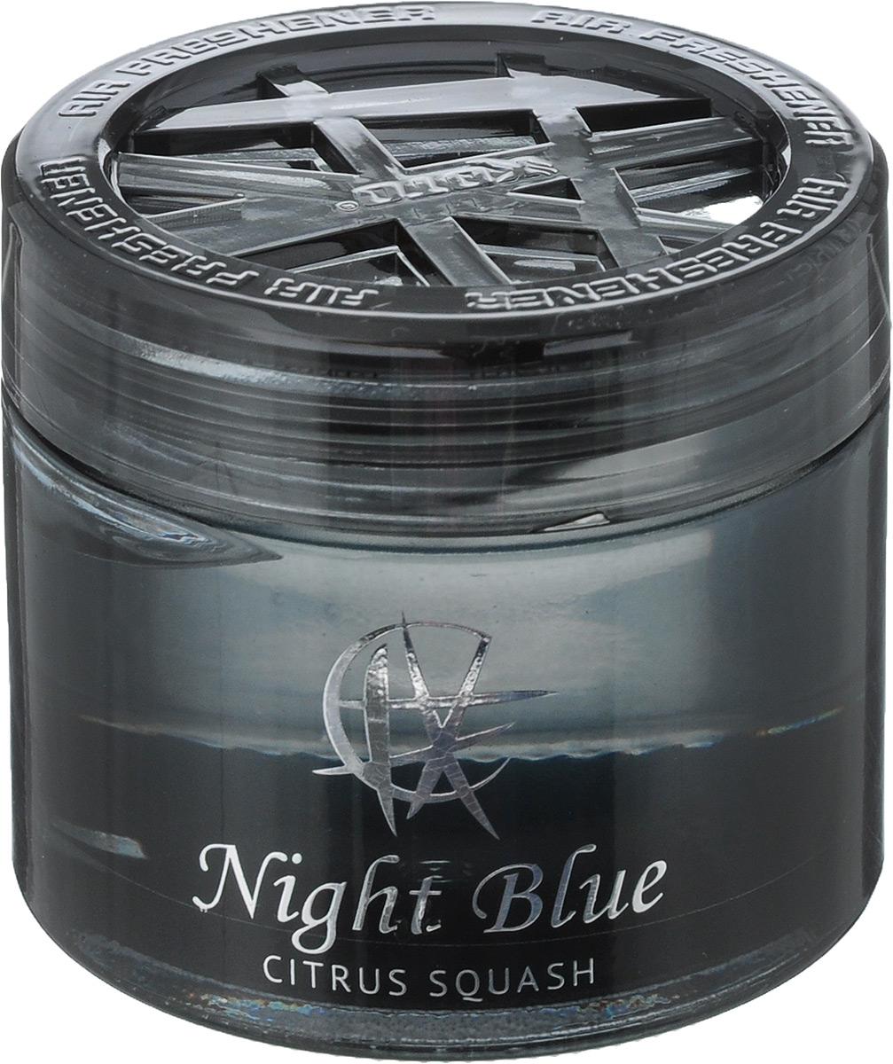 Ароматизатор автомобильный Koto Night Blue, гелевый, Citrus Squash, 65 млFPG-121Автомобильный ароматизатор Koto Night Blue эффективно устраняет неприятные запахи и придает легкий приятный аромат. Сочетание формулы геля с парфюмами наилучшего качества обеспечивает устойчивый запах. Кроме того, ароматизатор обладает элегантным дизайном, поэтому будет гармонично смотреться в салоне любого автомобиля. Благодаря удобной конструкции, его можно установить в любое место, например, на панель, под сиденье или в двери. Крепится ароматизатор с помощью двусторонней наклейки (входит в комплект). Срок эффективного действия - до 90 дней. Его можно использовать не только в автомобиле, но и в домашних условиях. Объем: 65 мл.