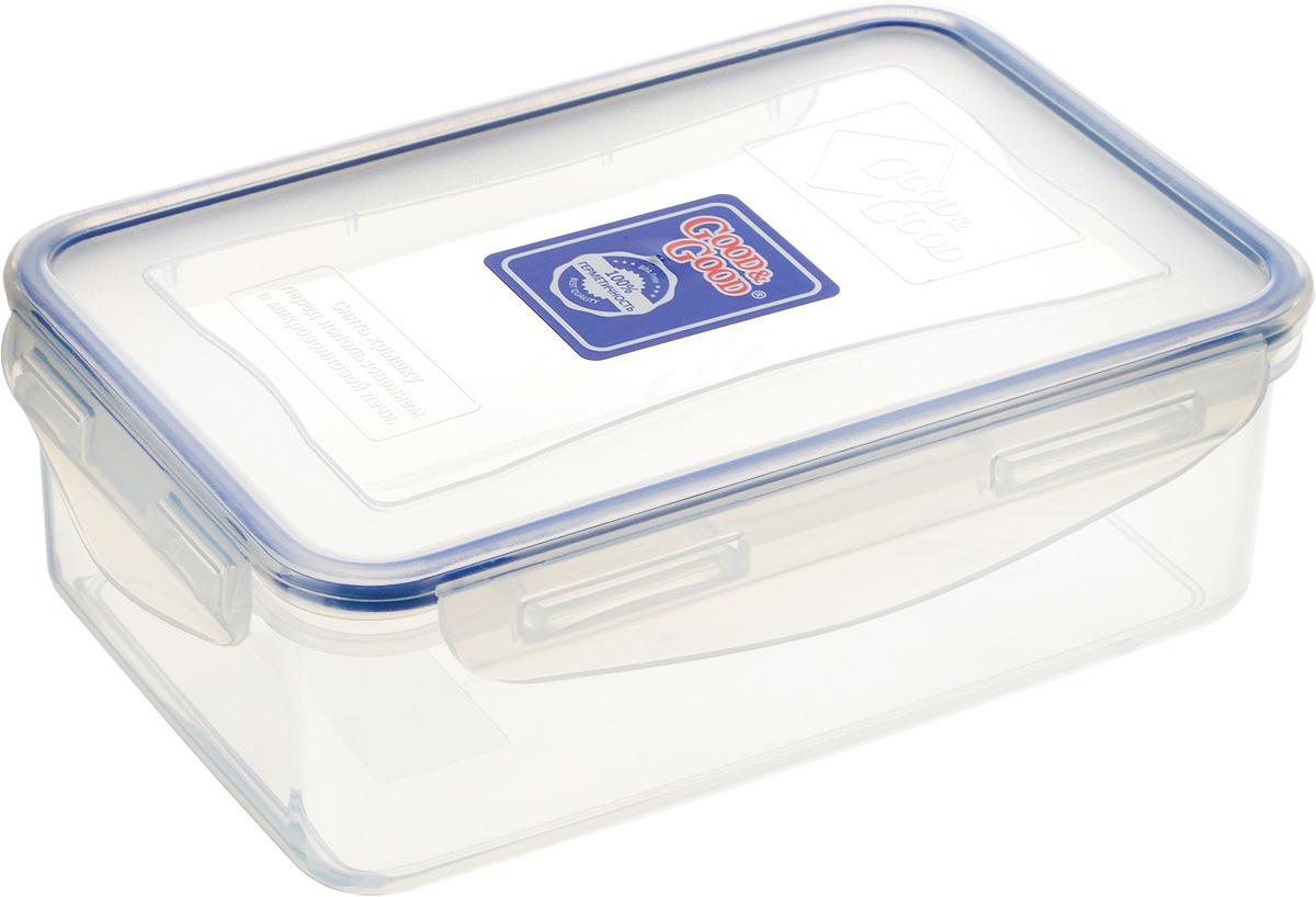 Контейнер для пищевых продуктов Good&Good, 1,1 л. 3-13-1Контейнер Good&Good, изготовленный из высококачественного полипропилена, предназначен для хранения любых пищевых продуктов. Крышка с силиконовой вставкой герметично защелкивается специальным механизмом. Изделие устойчиво к воздействию масел и жиров, легко моется. Контейнер имеет возможность хранения продуктов глубокой заморозки, обладает высокой прочностью. Контейнер Good&Good удобен для ежедневного использования в быту. Можно мыть в посудомоечной машине и использовать в холодильнике и микроволновой печи. Размер контейнера (с учетом крышки): 13,5 х 20 х 7 см.