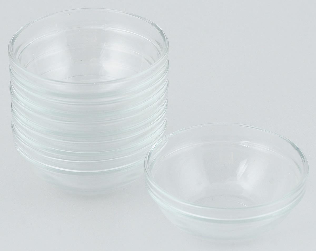 Набор салатников Pasabahce Chefs, диаметр 12 см, 6 шт53543BTНабор Pasabahce Chefs состоит из шести круглых салатников. Салатники выполнены из прочного натрий-кальций-силикатного стекла. Такие салатники отлично подойдут для сервировки закусок, нарезок, салатов и других блюд. Салатники станут отличным подарком к любому празднику. Можно мыть в посудомоечной машине и использовать в микроволновой печи.