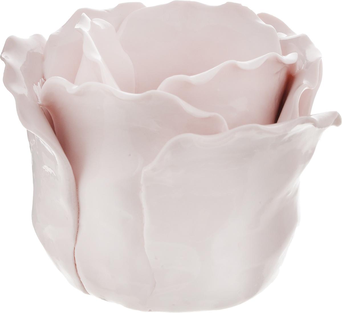 Подсвечник декоративный Феникс-Презент, цвет: розовый, 8,5 х 8,5 х 7,5 см43841Декоративный подсвечник Феникс-Презент изготовлен из фарфора. Подсвечник предназначен для одной свечи. Стильный и изысканный подсвечник позволит украсить интерьер дома или рабочего кабинета оригинальным образом. Вы можете поставить подсвечник в любом месте, где он будет удачно смотреться и радовать глаз. Кроме того - это отличный вариант подарка для ваших близких и друзей. Диаметр отверстия для свечи: 4,5 см.