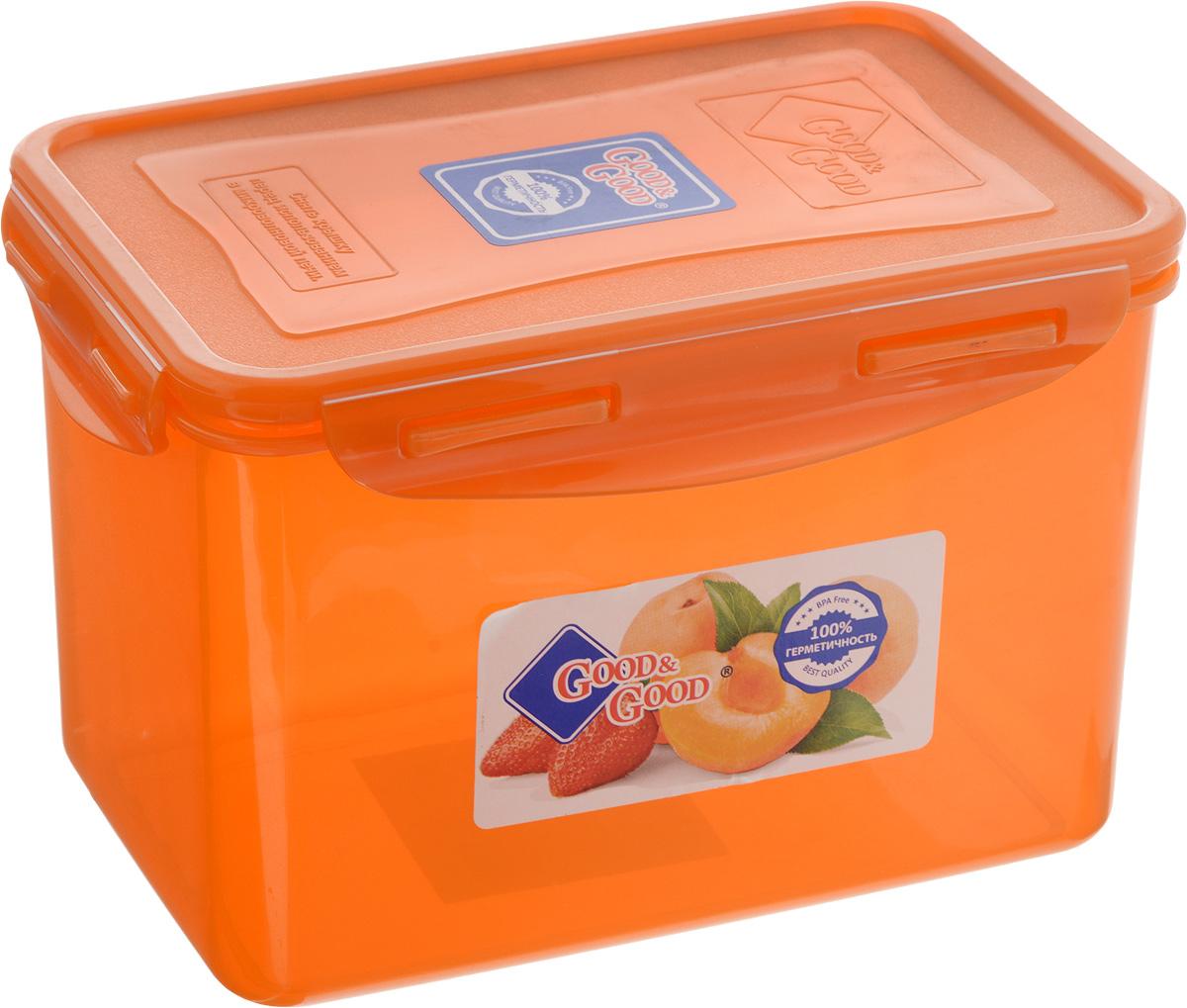 Контейнер для пищевых продуктов Good&Good, 2,2 л3-3/COLORS_оранжевыйКонтейнер Good&Good, изготовленный из высококачественного полипропилена, предназначен для хранения любых пищевых продуктов. Крышка с силиконовой вставкой герметично защелкивается специальным механизмом. Изделие устойчиво к воздействию масел и жиров, легко моется. Полупрозрачные стенки позволяют видеть содержимое. Контейнер имеет возможность хранения продуктов глубокой заморозки, обладает высокой прочностью. Контейнер Good&Good удобен для ежедневного использования в быту. Можно мыть в посудомоечной машине и использовать в холодильнике и микроволновой печи. Размер контейнера (с учетом крышки): 13,5 х 20 х 13 см.