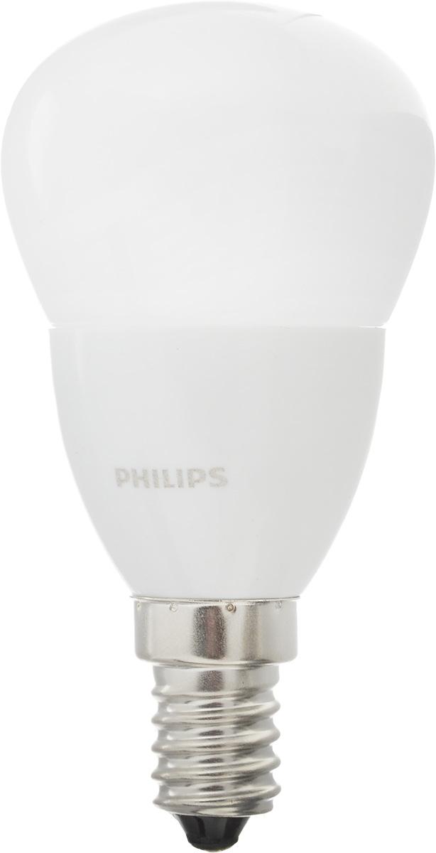 Лампа светодиодная Philips CorePro LEDluster, цоколь E14, 4W, 2700KЛампа CorePro ND 4-25W E14 827 P45 FRСовременные светодиодные лампы CorePro LEDluster экономичны, имеют долгий срок службы и мгновенно загораются, заполняя комнату светом. Лампа классической формы и высокой яркости позволяет создать уютную и приятную обстановку в любой комнате вашего дома. Светодиодные лампы потребляют на 90 % меньше электроэнергии, чем обычные лампы накаливания, излучая при этом привычный и приятный теплый свет. Срок службы светодиодной лампы CorePro LEDluster составляет до 15 000 часов, что соответствует общему сроку службы пятнадцати ламп накаливания. Благодаря чему менять лампы приходится значительно реже, что сокращает количество отходов. Напряжение: 220-240 В. Световой поток: 250 lm. Эквивалент мощности в ваттах: 25 Вт.