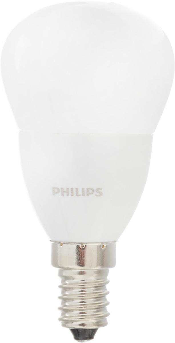 Лампа светодиодная Philips CorePro LEDluster, цоколь E14, 3,5W, 4000K3528Современные светодиодные лампы CorePro LEDluster экономичны, имеют долгий срок службы и мгновенно загораются, заполняя комнату светом. Лампа классической формы и высокой яркости позволяет создать уютную и приятную обстановку в любой комнате вашего дома. Светодиодные лампы потребляют на 90 % меньше электроэнергии, чем обычные лампы накаливания, излучая при этом привычный и приятный свет. Срок службы светодиодной лампы CorePro LEDluster составляет до 15 000 часов, что соответствует общему сроку службы пятнадцати ламп накаливания. Благодаря чему менять лампы приходится значительно реже, что сокращает количество отходов. Напряжение: 220-240 В. Световой поток: 290 lm. Эквивалент мощности в ваттах: 25 Вт.