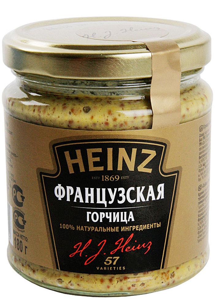 Heinz горчица Французская, 180 г75980273Деликатесная горчица Heinz с дроблеными зернами приготовлена по традиционному французскому рецепту. Отличается мягким вкусом с острыми нотками. Придаст любому блюду из мяса и птицы особую пикантность.