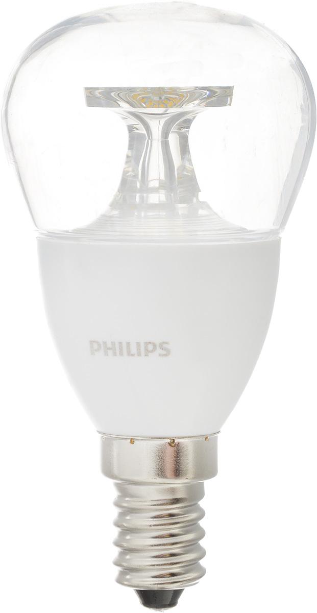 Лампа светодиодная Philips CorePro LEDluster, цоколь E14, 5,5W, 4000KCorepro lustre ND 5.5-40W E14 840 P45 CLСовременные светодиодные лампы CorePro LEDluster экономичны, имеют долгий срок службы и мгновенно загораются, заполняя комнату светом. Лампа классической формы и высокой яркости позволяет создать уютную и приятную обстановку в любой комнате вашего дома. Светодиодные лампы потребляют на 90 % меньше электроэнергии, чем обычные лампы накаливания, излучая при этом привычный и приятный свет. Срок службы светодиодной лампы CorePro LEDluster составляет до 15 000 часов, что соответствует общему сроку службы пятнадцати ламп накаливания. Благодаря чему менять лампы приходится значительно реже, что сокращает количество отходов. Напряжение: 220-240 В. Световой поток: 520 lm. Эквивалент мощности в ваттах: 40 Вт.