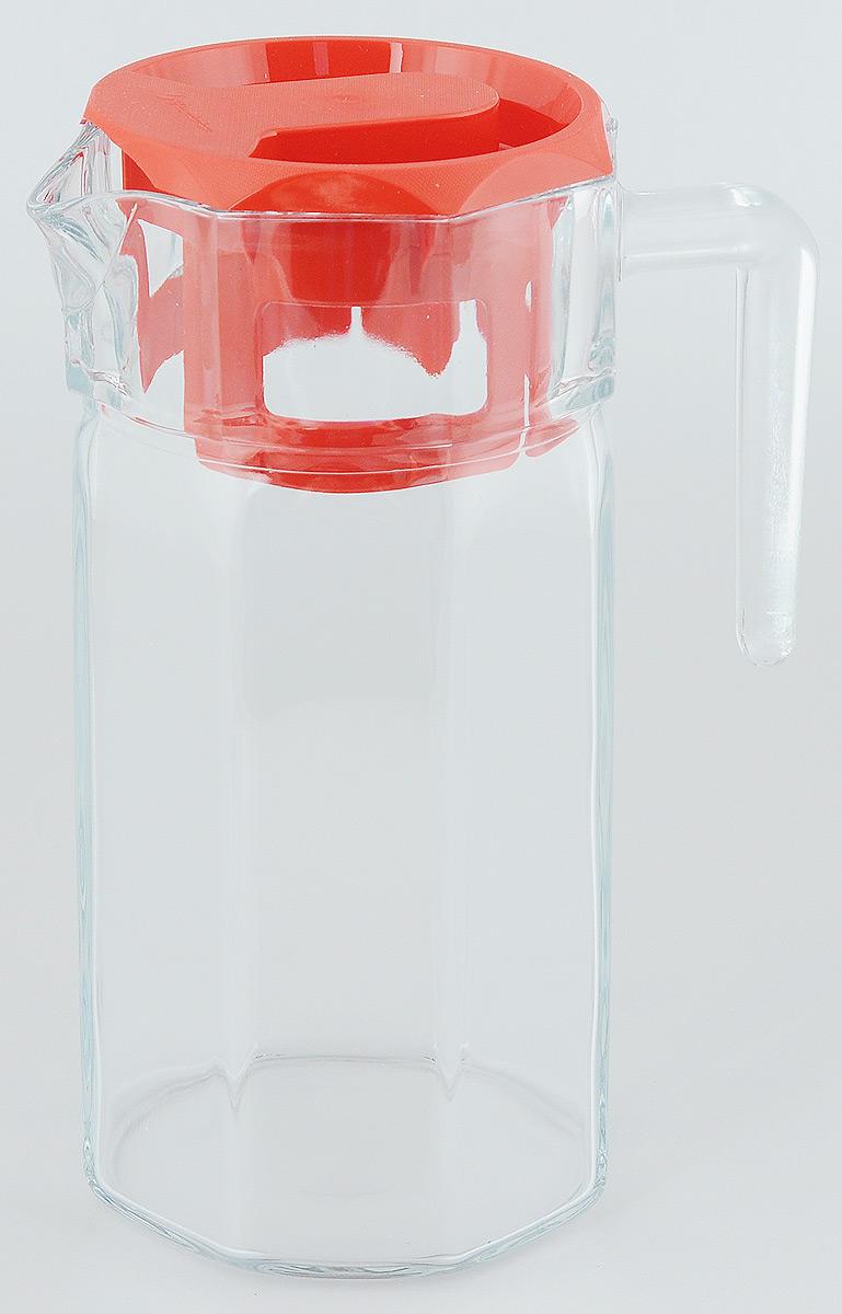 Кувшин Pasabahce Kosem, с крышкой, 1250 мл43414BКувшин Pasabahce Kosem, выполненный из прочного натрий-кальций-силикатного стекла, элегантно украсит ваш стол. Такой кувшин прекрасно подойдет для подачи воды, сока, компота и других напитков. Кувшин плотно закрывается пластиковой крышкой. Крышка устроена таким образом, что выливать жидкость можно не снимая ее, так как напиток будет проходить через специальную выемку. Совершенные формы и изящный дизайн, несомненно, придутся по душе любителям классического стиля. Кувшин Pasabahce Kosem дополнит интерьер вашей кухни и станет замечательным подарком к любому празднику. Можно мыть в посудомоечной машине. Размер кувшина по верхнему краю (без учета носика): 11 х 10,5 см. Высота кувшина (без учета крышки): 22 см.