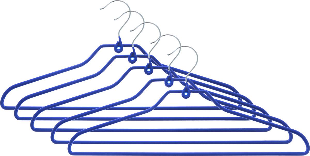 Набор вешалок для одежды Attribute Hanger Neo, цвет: синий, 5 штAHS725Набор Attribute Hanger Neo состоит из 5 вешалок для одежды, выполненных из стали и ПВХ. Изделия оснащены перекладинами. Вешалка - это незаменимая вещь для того, чтобы ваша одежда всегда оставалась в хорошем состоянии. Комплектация: 5 шт. Размер вешалки: 42 х 19 х 0,5 см.