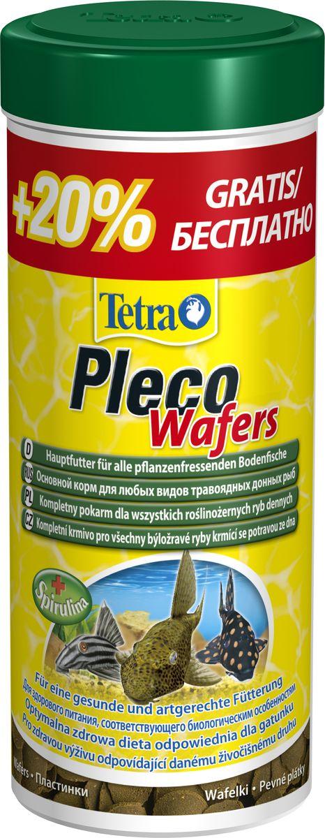 Корм Tetra Pleco Veggie Wafers, для сомиков-присосок, 300 мл199118АTetraPleco Wafer корм для травоядных сомиков-присосок представляет собой плотные пластиночки, содержащие спирулину, необходимую для полноценного питания донных сомиков вида Анциструс и Плекостомус. При попадании в воду пластиночки медленно набухают и растворяются, предоставляя сомикам возможность питаться ими и не загрязнять при этом воду. Состав кормовых пластинок соответствует существующим требованиям донных сомиков. Рекомендуется для двух-трехразового ежедневного кормления.