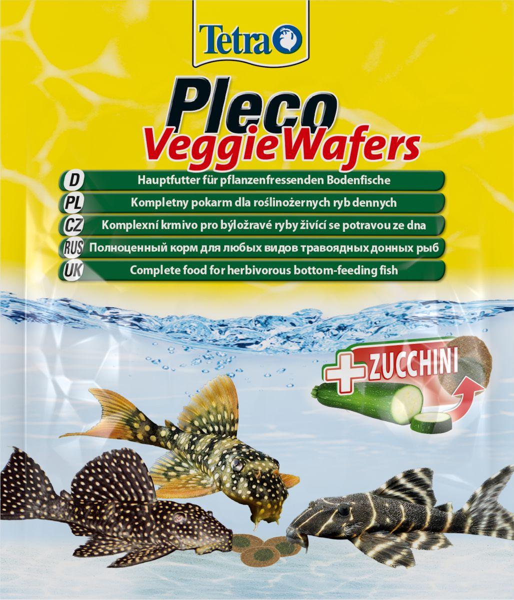 Корм Tetra Pleco Veggie Waffers, для донных рыб, с добавлением цуккини, пластинки, 15 г257313На 100% растительный полноценный корм премиум-класса, Обеспечит оптимальное питание для донных рыб. Цукини богат минералами для улучшения сомачувствия и поддержания жизненных сил рыб. Содержит волокна, необходимые для легкого переваривания. Благодаря твердой консистенции пластинки не загрязняют воду.