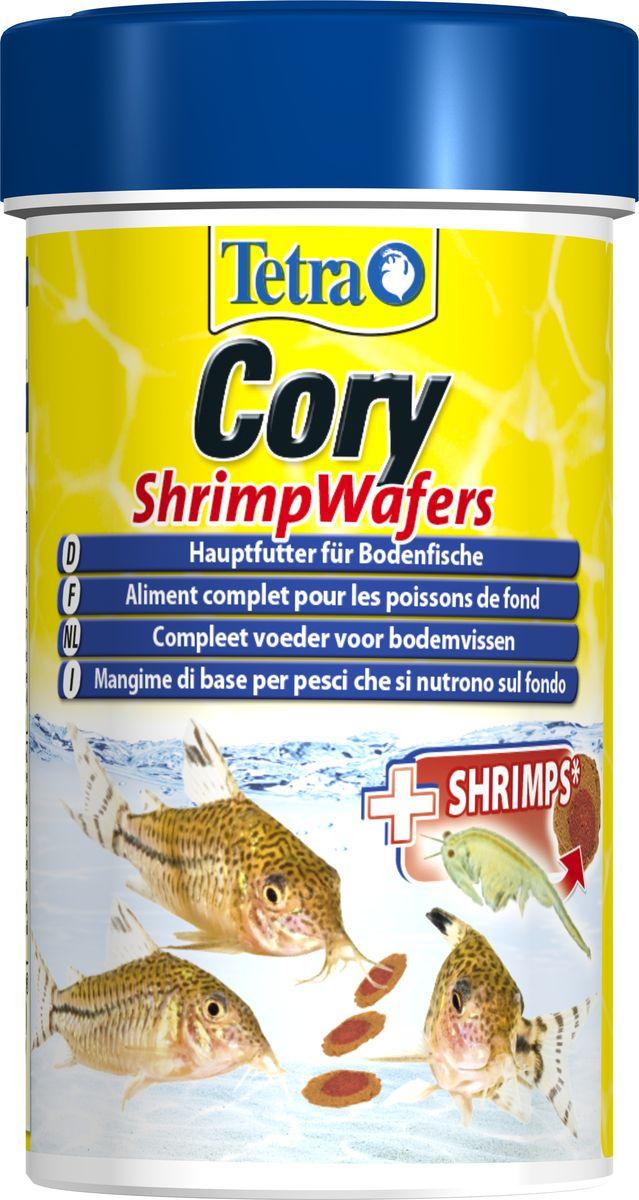 Корм Tetra Cory Shrimp Wafers, для сомиков-коридорасов, с добавлением креветок, пластинки, 100 мл257399Уникальный высококачественный сбалансированный двухцветный корм обеспечит оптимальное питание для ваших донных рыб. Креветки богаты незаменимыми жирными кислотами омега-3, способствующими здоровому росту. Специально разработан для удовлетворения пищевых потребностей панцирников (коридорас). Благодаря особой консистенции пластинки не загрязняют воду