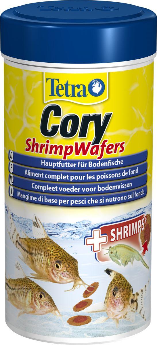 Корм Tetra Cory Shrimp Wafers, для сомиков-коридорасов, с добавлением креветок, пластинки, 250 мл257429Уникальный высококачественный сбалансированный двухцветный корм обеспечит оптимальное питание для ваших донных рыб. Креветки богаты незаменимыми жирными кислотами омега-3, способствующими здоровому росту. Специально разработан для удовлетворения пищевых потребностей панцирников (коридорас). Благодаря особой консистенции пластинки не загрязняют воду