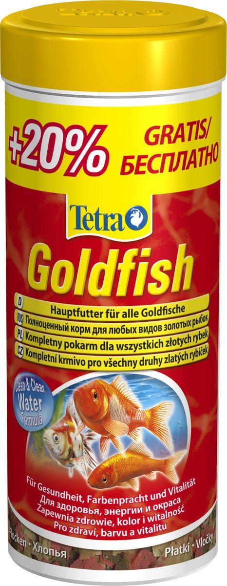 Корм Tetra Goldfish, для всех видов золотых рыбок, хлопья, 300 мл140127ATetraGoldfish Food питательные хлопья для всех видов золотых рыбок, а также других видов холодноводных рыб. разнообразное питание, которое достигается за счет оптимально подобранного состава хлопьев содержит все необходимые питательные вещества и микроэлементы улучшает здоровье, жизненную силу и богатство красок с запатентованной* формулой BioActive- для продолжительной и здоровой жизни Ваших питомцев с формулой Clean & Clear Water: улучшает усваиваемость корма и сокращает количество экскрементов рыб - для чистой и прозрачной аквариумной воды кормить рыб теперь легко: специальная крышка для удобной и точной дозировки