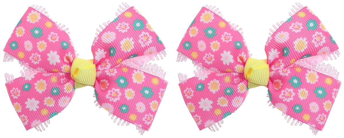 Babys Joy Резинки для волос цвет розовый зеленый желтый 2 штMN 134/2_розовый, зеленый, желтый, цветыРезинка для волос Babys Joy изготовлена из декоративных лент в виде банта. Резинка для волос Babys Joy надежно зафиксирует волосы и подчеркнет красоту прически вашей маленькой модницы. В упаковке: 2 резинки. Рекомендовано для детей старше трех лет.