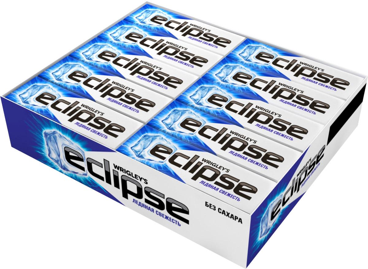 Eclipse Ледяная свежесть жевательная резинка без сахара, 30 пачек по 13,6 г4009900392969Попробуйте по-настоящему ледяную свежесть. Жевательная резинка Eclipse освежает дыхание и придает уверенности в общении. Уверен в дыхании - уверен в себе! Уважаемые клиенты! Обращаем ваше внимание, что полный перечень состава продукта представлен на дополнительном изображении.