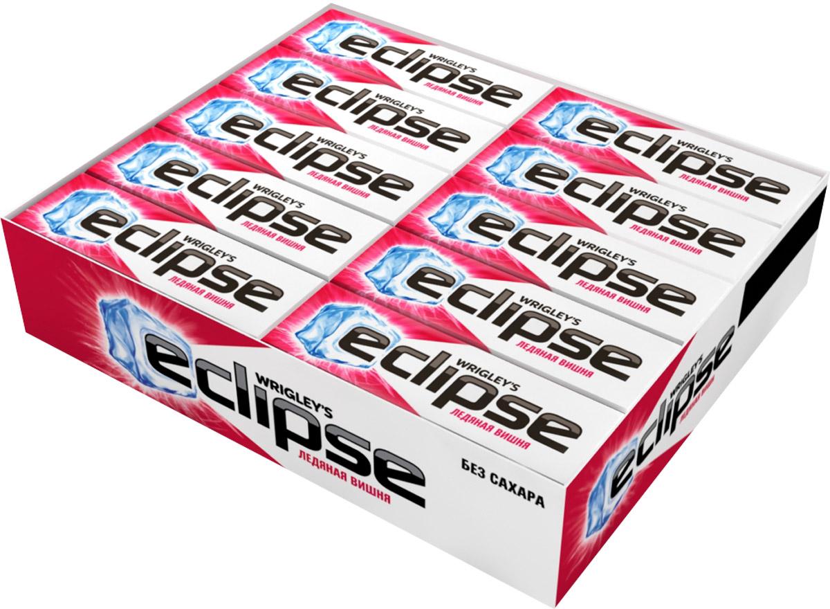 Eclipse Ледяная вишня жевательная резинка без сахара, 30 пачек по 13,6 г4009900408547Попробуйте по-настоящему ледяную свежесть. Жевательная резинка Eclipse Ледяная вишня освежает дыхание и придает уверенности в общении. Уверены в дыхании - уверены в себе! Уважаемые клиенты! Обращаем ваше внимание, что полный перечень состава продукта представлен на дополнительном изображении.