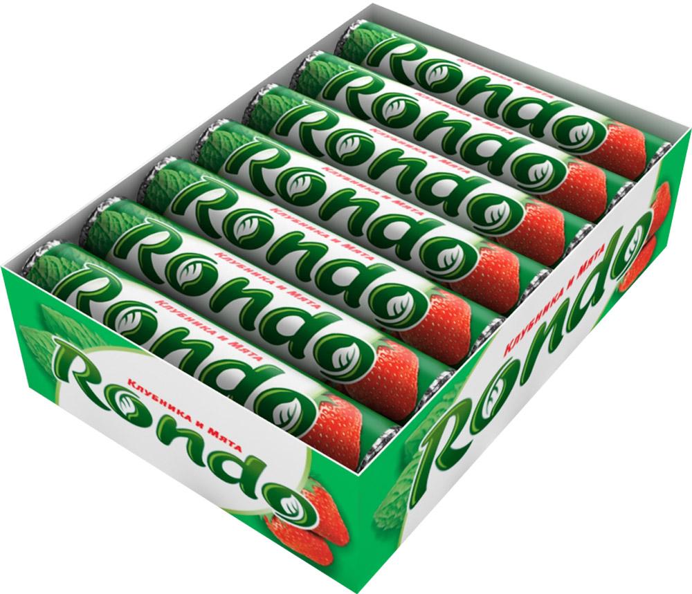 """Rondo """"Клубника и мята"""" освежающие конфеты, 14 пачек по 30 г 4009900481113"""