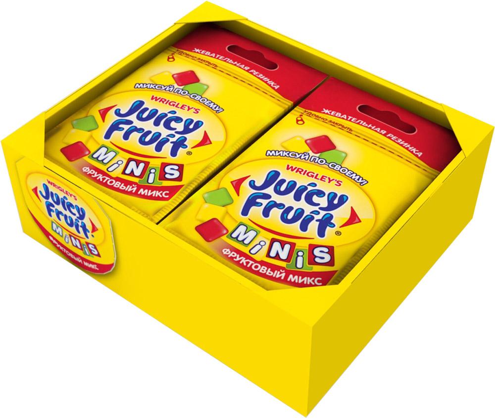 Juicy Fruit Minis Фруктовый микс жевательная резинка, 14 пачек по 15,9 г4009900511148Фруктовый микс вкусов: классический фруктовый, яблоко и клубника. Инновационный продукт - первая жевательная резинка с тремя разными вкусами в одной пачке. У вас появилась возможность миксовать вкусы, создавая свой собственный неповторимый Juicy Fruit!