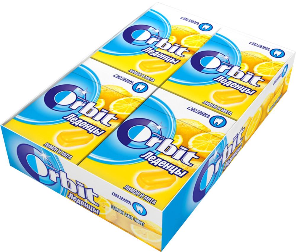 Orbit Лимон и мята леденцы, 8 пачек по 35 г4043041000017Освежающие леденцы Orbit с ароматом лимона и мяты помогают восстановить кислотно-щелочной баланс во рту, и способствуют сохранению здоровья зубов. Уважаемые клиенты! Обращаем ваше внимание, что полный перечень состава продукта представлен на дополнительном изображении.