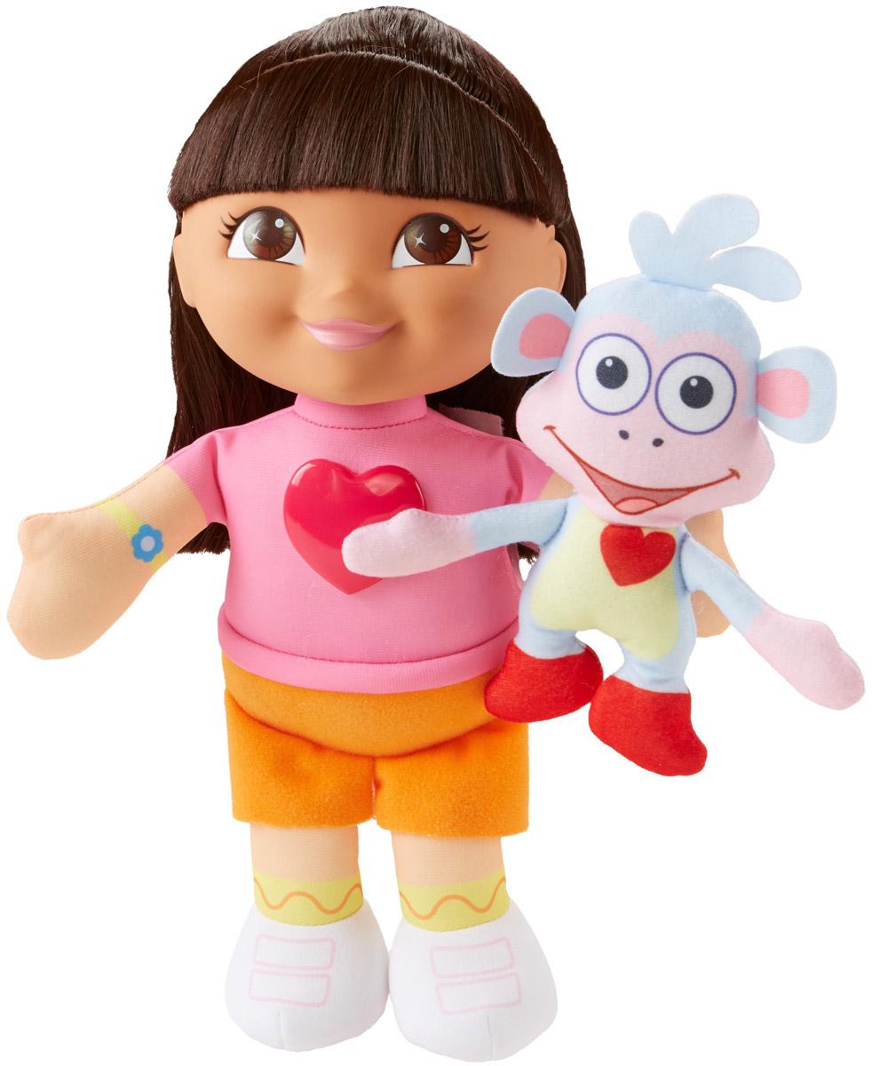 Dora the Explorer Музыкальная игрушка Поющие Даша и БашмачокDVL81Даша и Башмачок обожают петь вместе! Сожми каждого из этих маленьких друзей в руке, и они споют свою особую песенку! Сожми еще раз, и эти верные друзья споют дуэтом о своих невероятных приключениях! Во время пения сердечко Даши начинает светиться и мерцать!