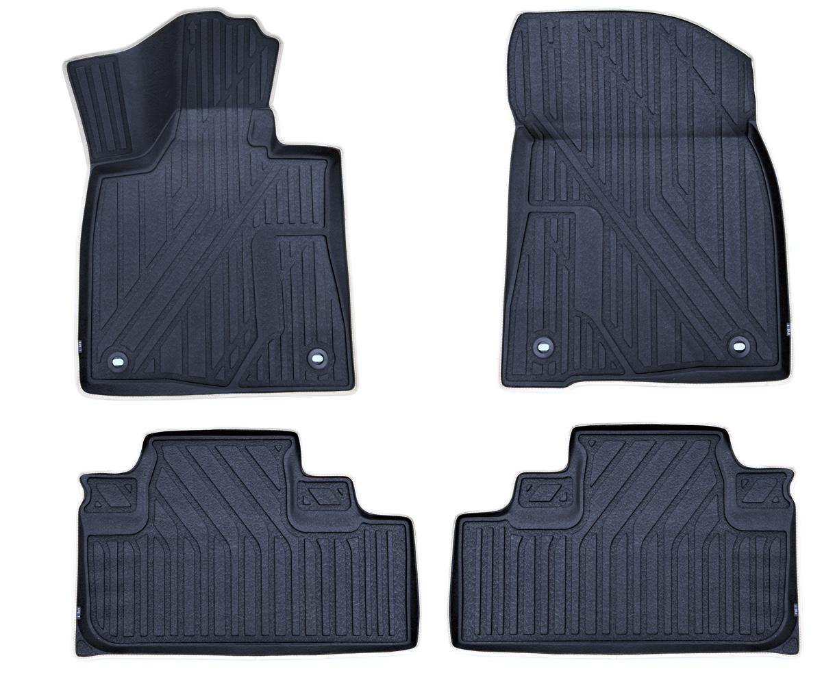 Набор автомобильных ковриков Kvest 3D Премиум для LEXUS RX 2015->, в салон, 4 шт. (полистар, черные)KVESTLEX00001KДень за днем, шаг за шагом наша команда Novline -Autofamily создавала продукт, отвечающий высочайшему уровню комфорта и максимальной степени безопасности. Ковры KVEST – изделия, которыми сегодня мы имеем полное право гордиться. При производстве автомобильных ковриков KVEST мы используем полистар — разработанный нами инновационный материал. Легкий и вместе с тем прочный коврик из этого полимера обладает повышенной устойчивостью к истиранию; сохраняет свои свойства в широком диапазоне температур (от минус 50 до 50 °С); не имеет запаха и абсолютно безопасен для человека; экологичен и пригоден для вторичной переработки. Коврики KVEST идеально повторяют геометрию салона автомобиля. Площадка отдыха левой ноги полностью закрыта ковриком, а высокий борт защищает не только пол, но и другие элементы салона. Ваша обувь остается максимально защищенной от грязи, воды и соляной смеси на протяжении всего пути благодаря объемной текстуре изделия. С автомобильными ковриками KVEST вы сможете забыть о...