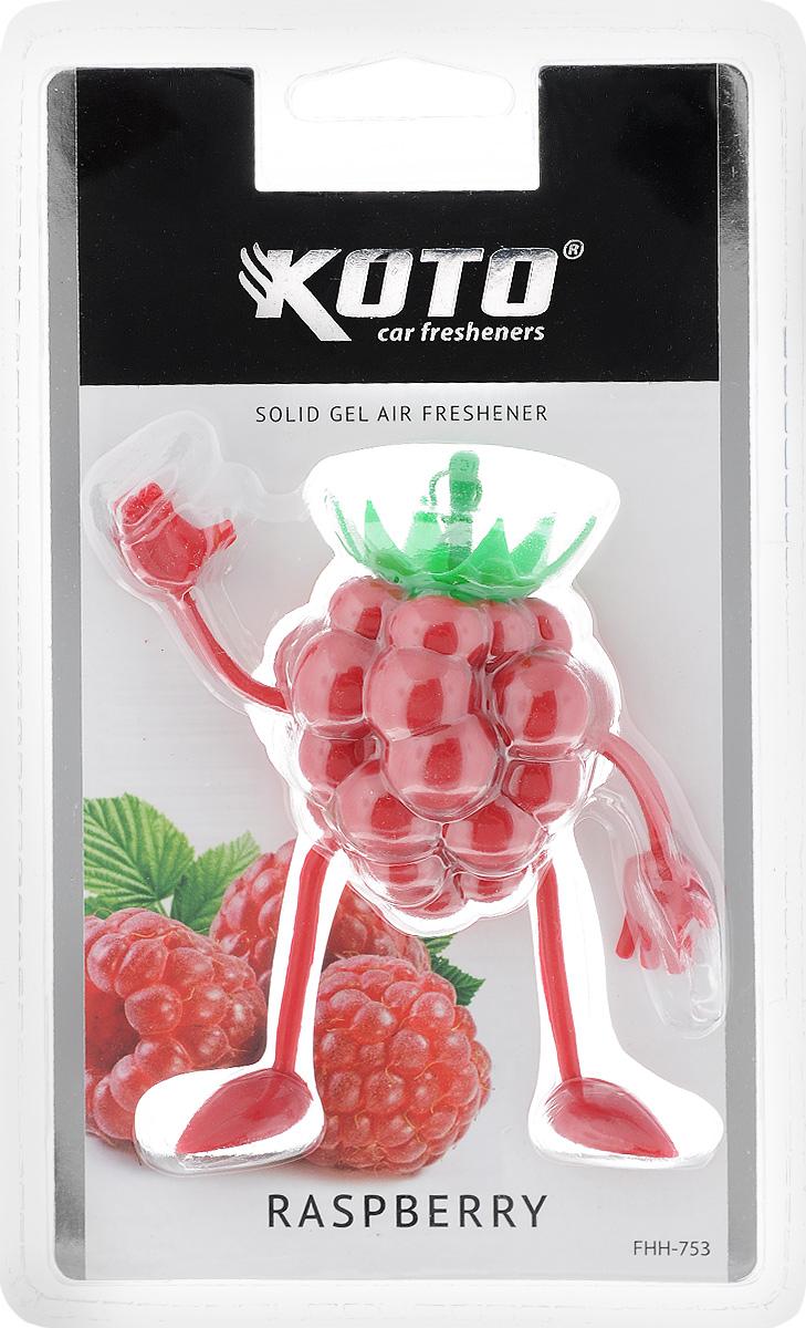 Ароматизатор автомобильный Koto Raspberry, гелевый, 50 гFHH-753Автомобильный ароматизатор Koto Raspberry эффективно устраняет неприятные запахи и придает легкий приятный аромат. Сочетание геля с парфюмами наилучшего качества обеспечивает устойчивый запах. Кроме того, ароматизатор обладает элегантным дизайном. Изделие можно разместить на зеркале заднего вида, используя шнурок для подвеса.