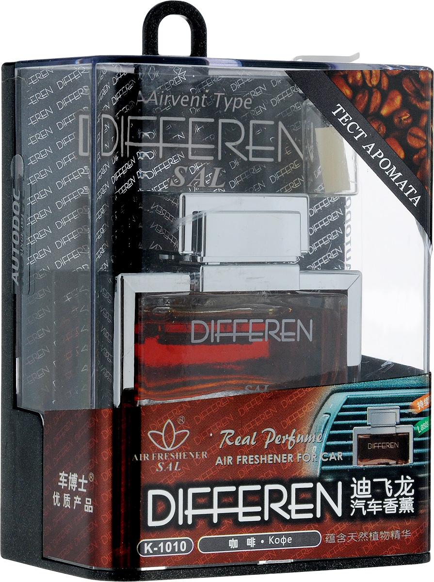 Ароматизатор автомобильный Autodoc Differen, на дефлектор, кофеK-1010