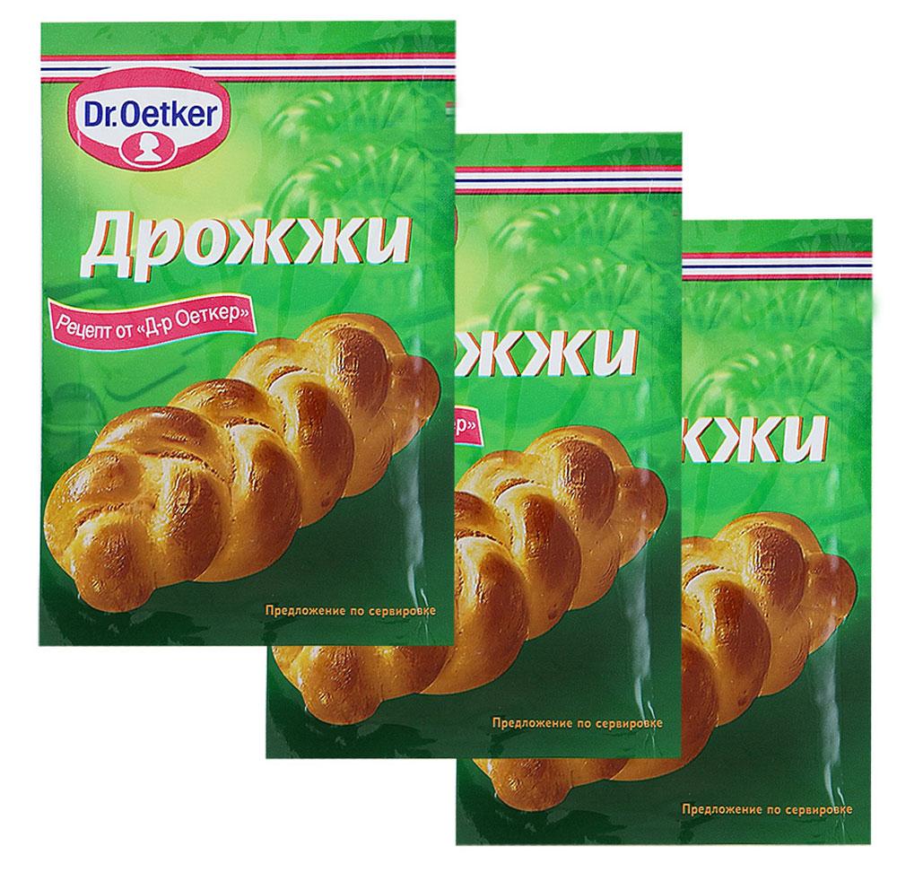Dr.Oetker дрожжи хлебопекарные сухие быстродействующие, 3 пакетика по 7 г1-84-071081Дрожжи хлебопекарные сухие быстродействующие Dr.Oetker - мгновенное действие, гарантия успеха!