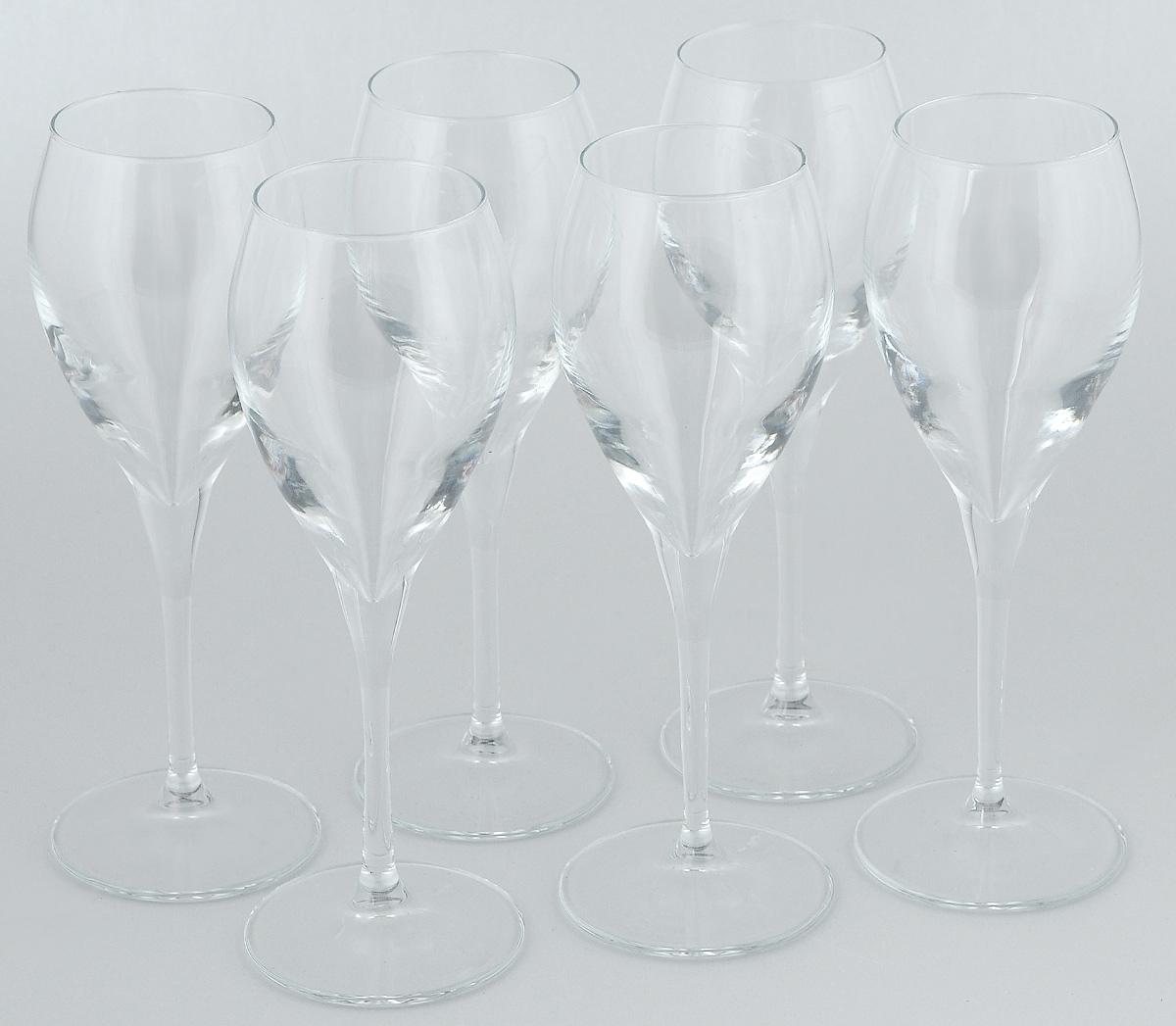 Набор бокалов для вина Pasabahce Monte Carlo, 260 мл, 6 шт440090BНабор Pasabahce Monte Carlo состоит из шести бокалов, выполненных из прочного натрий-кальций-силикатного стекла. Изделия оснащены высокими ножками и предназначены для подачи вина. Они сочетают в себе элегантный дизайн и функциональность. Набор бокалов Pasabahce Monte Carlo прекрасно оформит праздничный стол и создаст приятную атмосферу за романтическим ужином. Такой набор также станет хорошим подарком к любому случаю.