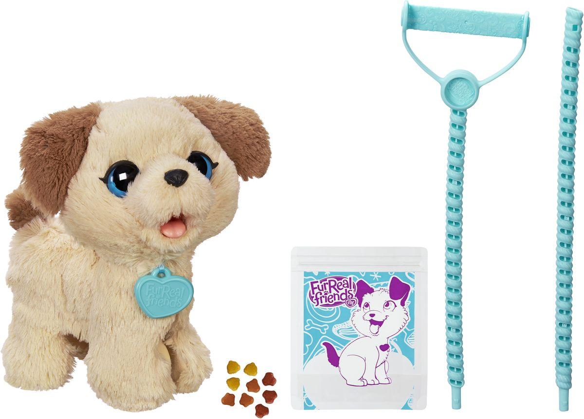 FurReal Friends Интерактивная игрушка Весёлый щенок ПаксC2178Весёлый щенок Пакс так похож на настоящего! Пакс ест и ходит в туалет, словно живой щенок! Он такой послушный и умеет ходить на поводке! Пакс издает звуки, когда ему уделяешь внимание. В наборе съемный поводок, 9 нагеттсов и пакет для уборки за щенком.
