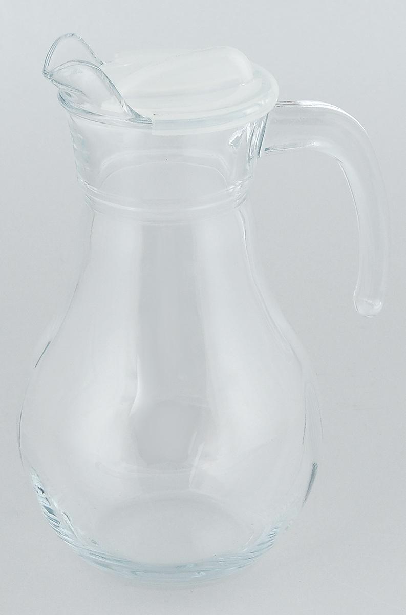 Кувшин Pasabahce Bistro, с крышкой, 1 л43944BКувшин Pasabahce Bistro, выполненный из прочного стекла, элегантно украсит ваш стол. Он прекрасно подойдет для подачи воды, сока, компота и других напитков. Изделие оснащено ручкой, пластиковой крышкой и специальным носиком для удобного выливания жидкости. Совершенные формы и изящный дизайн, несомненно, придутся по душе любителям классического стиля. Кувшин Pasabahce Bistro дополнит интерьер вашей кухни и станет замечательным подарком к любому празднику. Высота кувшина: 22 см.