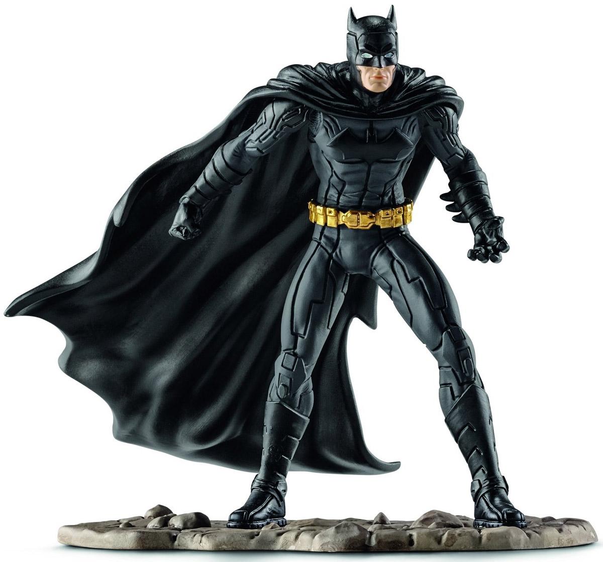 Schleich Фигурка Бэтмен сражается22502Фигурка Schleich Бэтмен сражается станет прекрасным подарком для вашего ребенка. Великолепно детализированная фигурка супергероя изготовлена из каучукового пластика. Такая фигурка непременно понравится вашему ребенку, а также привлечет внимание взрослых коллекционеров, и станет замечательным украшением любой коллекции. Восхитительная фигурка сделает игры в супергероев еще увлекательнее и интереснее! У игрушки есть широкое основание, благодаря которому она прочно стоит на различных поверхностях. Бэтмен вновь готов спасти Готэм Сити! Для этого он облачился в свой черный облегающий костюм, набросил на плечи плащ и надел на лицо маску для того, чтобы никто не смог узнать его. В своем прекрасном облачении он спешит на помощь жителям города Готэм.