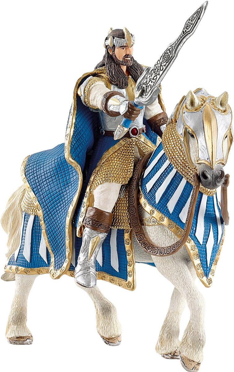 Schleich Фигурка Рыцарь Грифонов Король на лошади70119Фигурка Schleich Рыцарь Грифонов. Король на лошади станет прекрасным подарком для вашего ребенка. Она выполнена из каучукового пластика. Детали фигурки четкие и максимально детализированы, что привлечет внимание ребенка, который с огромным удовольствием будет играть с ней в ролевые игры. Фигурка разъемная и ваш ребенок может играть отдельно как с королем, так и с лошадью. Всадник надежно крепится к лошади с помощью магнитов, встроенных в фигурки. Рука с мечем подвижна в плече. Такая фигурка непременно понравится вашему ребенку и станет замечательным украшением любой коллекции. Всемогущий правитель Грифонов является смелым воином и мудрым королем своей страны. Король представлен в красочных доспехах и с мощным оружием. Он едет на своем боевом коне на поле битвы.