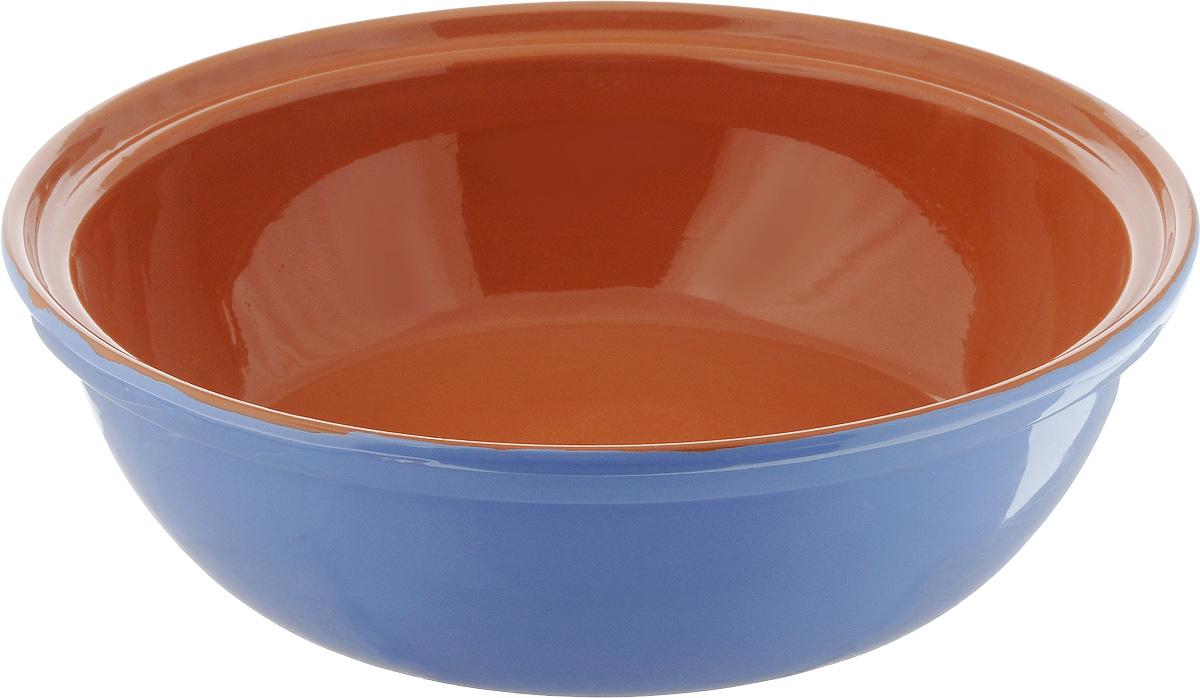 Салатник Борисовская керамика Модерн, цвет: сиреневый, коричневый, 2,5 лРАД00001012_сиреневый, коричневыйСалатник Борисовская керамика Модерн выполнен из высококачественной глазурованной керамики. Этот большой и вместительный салатник придется по вкусу любителям здоровой и полезной пищи. Благодаря современной удобной форме, изделие многофункционально и может использоваться хозяйками на кухне как в виде салатника, так и для запекания продуктов, с последующим хранением в нем приготовленной пищи. Посуда термостойкая. Можно использовать в духовке и микроволновой печи. Диаметр (по верхнему краю): 28,5 см. Высота стенки: 8,5 см.