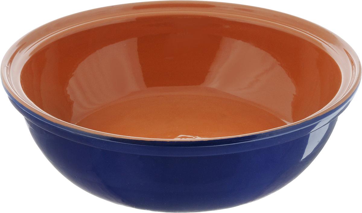 Салатник Борисовская керамика Модерн, цвет: синий, коричневый, 2,5 лРАД00001012_синий, коричневыйСалатник Борисовская керамика Модерн выполнен из высококачественной глазурованной керамики. Этот большой и вместительный салатник придется по вкусу любителям здоровой и полезной пищи. Благодаря современной удобной форме, изделие многофункционально и может использоваться хозяйками на кухне как в виде салатника, так и для запекания продуктов, с последующим хранением в нем приготовленной пищи. Посуда термостойкая. Можно использовать в духовке и микроволновой печи. Диаметр (по верхнему краю): 28,5 см. Высота стенки: 8,5 см.
