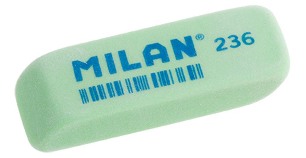 Milan Ластик 236 цвет зеленыйCPM236_зеленыйЛастик Milan станет незаменимым аксессуаром на рабочем столе не только школьника или студента, но и офисного работника. Ластик имеет прямоугольную форму с двумя скошенными краями, которые предназначены для более точного стирания. Ластик обеспечивает высокое качество коррекции и не повреждает поверхность бумаги.