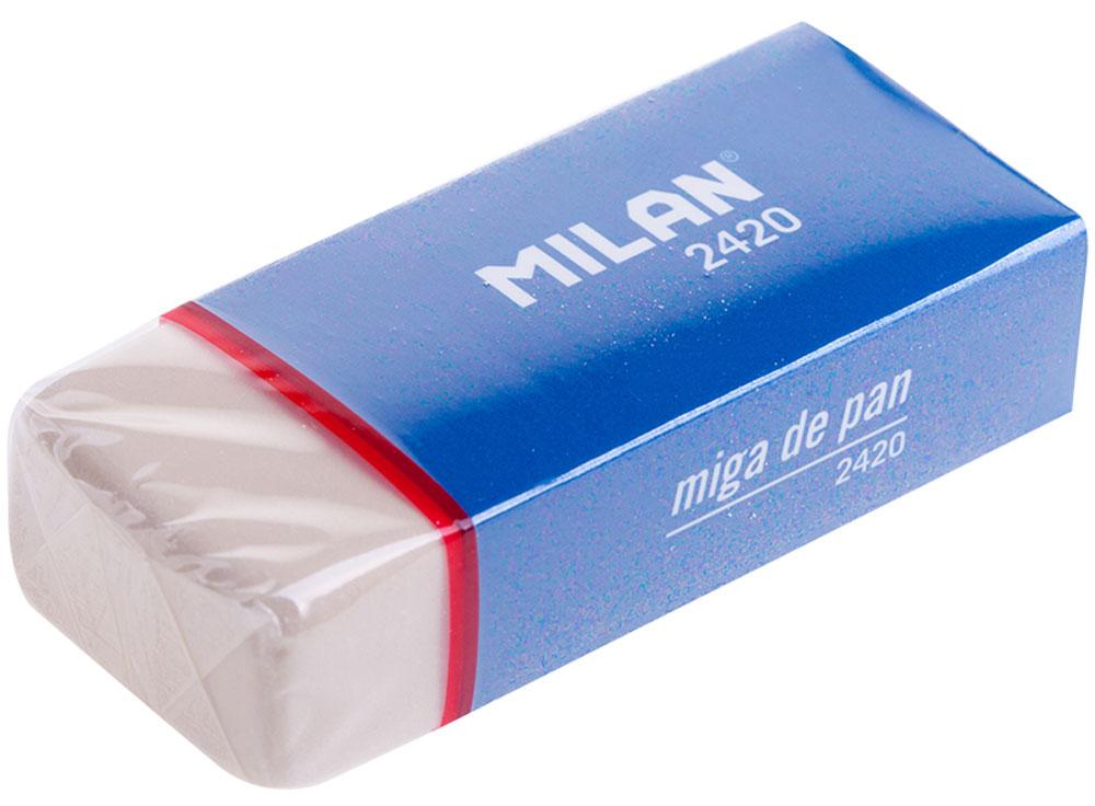 Milan Ластик 2420CMM2420Мягкий ластик Milan из синтетического каучука подходит для удаления следов всех видов чернографитных карандашей с любых поверхностей. Удобный держатель делает работу с ластиком особенно комфортной.