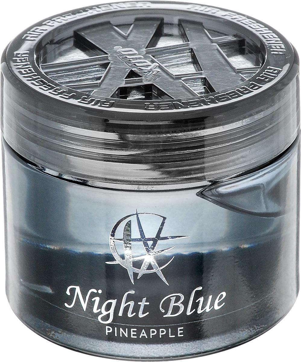 Ароматизатор автомобильный Koto Night Blue. Pineapple, гелевый, 65 млFPG-118Автомобильный ароматизатор Koto Night Blue. Pineapple эффективно устраняет неприятные запахи и придает приятный аромат ананаса. Сочетание геля с парфюмами наилучшего качества обеспечивает устойчивый запах. Кроме того, ароматизатор обладает элегантным дизайном. Изделие можно разместить на горизонтальной поверхности, используя двухстороннюю наклейку.