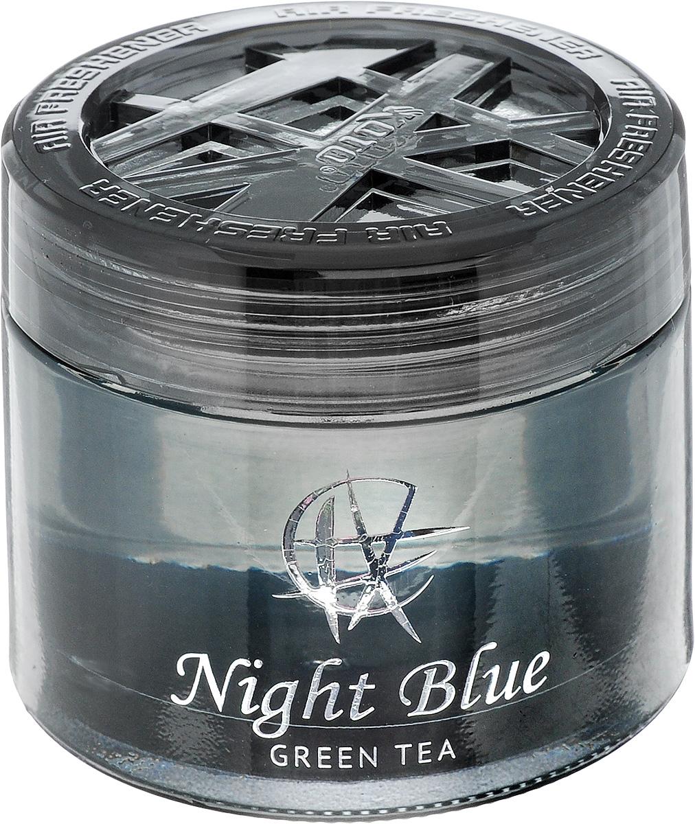 Ароматизатор автомобильный Koto Night Blue. Green tea, гелевый, 65 млFPG-114Автомобильный ароматизатор Koto Night Blue. Green tea эффективно устраняет неприятные запахи и придает приятный аромат зеленого чая. Сочетание геля с парфюмами наилучшего качества обеспечивает устойчивый запах. Кроме того, ароматизатор обладает элегантным дизайном. Изделие можно разместить на горизонтальной поверхности, используя двухстороннюю наклейку.