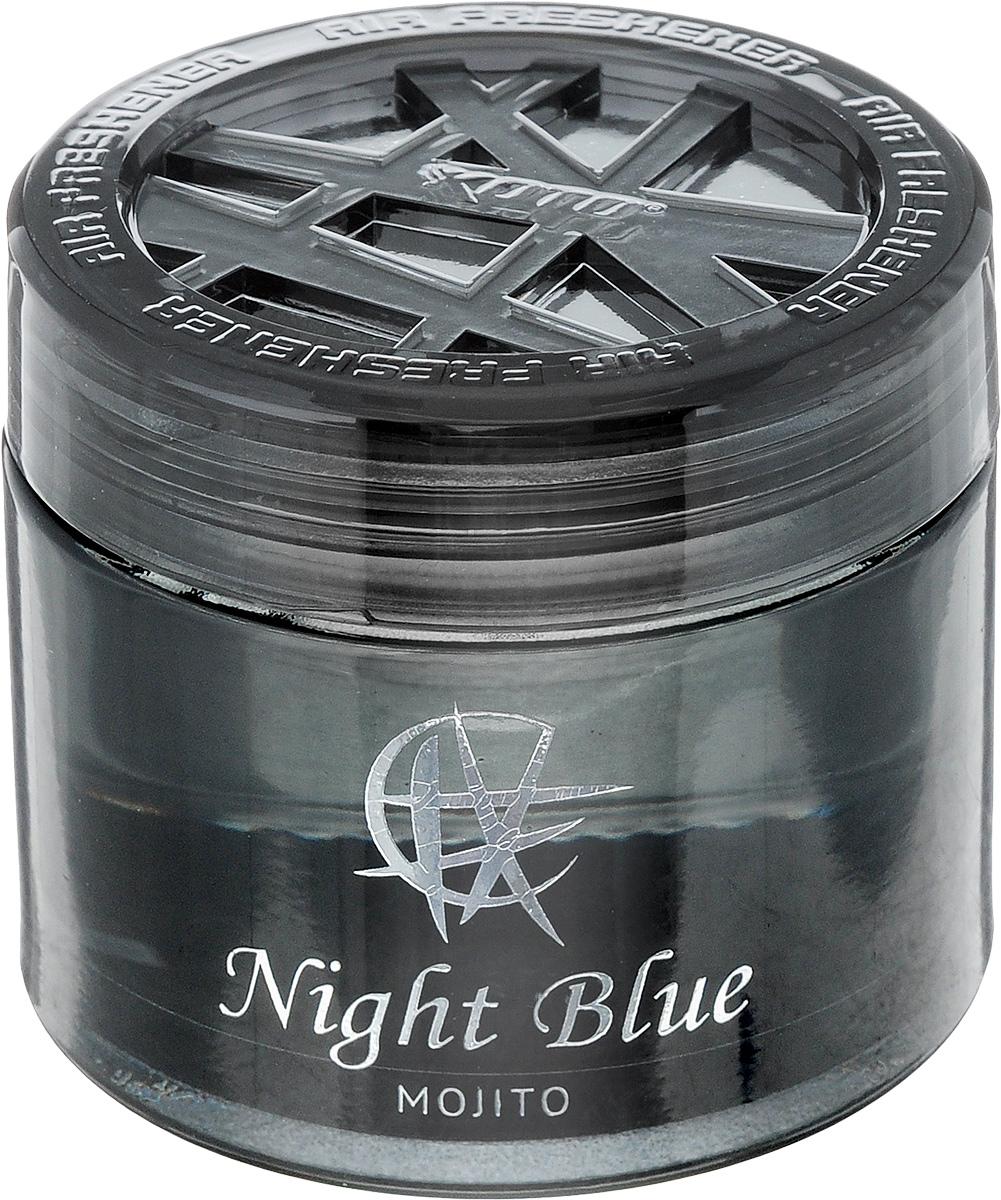 Ароматизатор автомобильный Koto Night Blue. Mojito, гелевый, 65 млFPG-119Автомобильный ароматизатор Koto Night Blue. Mojito эффективно устраняет неприятные запахи и придает приятный аромат. Сочетание геля с парфюмами наилучшего качества обеспечивает устойчивый запах. Кроме того, ароматизатор обладает элегантным дизайном. Изделие можно разместить на горизонтальной поверхности, используя двухстороннюю наклейку.