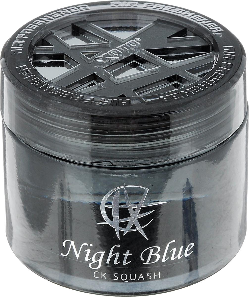 Ароматизатор автомобильный Koto Night Blue. CK Squash, гелевый, 65 млFPG-113Автомобильный ароматизатор Koto Night Blue. CK Squash эффективно устраняет неприятные запахи и придает приятный аромат тыквы. Сочетание геля с парфюмами наилучшего качества обеспечивает устойчивый запах. Кроме того, ароматизатор обладает элегантным дизайном. Изделие можно разместить на горизонтальной поверхности, используя двухстороннюю наклейку.