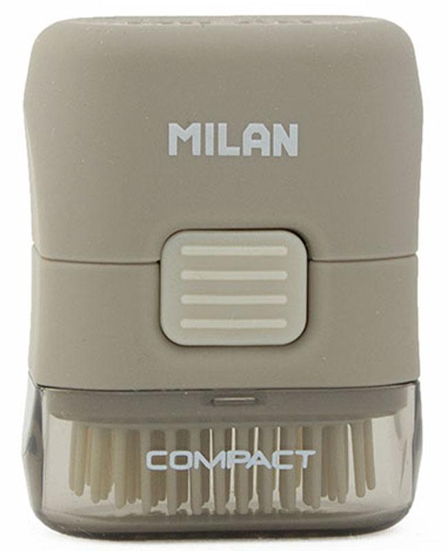 Milan Ластик с щеточкой Compact прямоугольный цвет серый4901116Ластик Milan Compact с щеточкой в едином корпусе позволят одновременно стирать и удалять лишнее. Стильная и функциональная модель корпуса, прямоугольная форма ластика и колпачка делают товар эффектным и удобным.