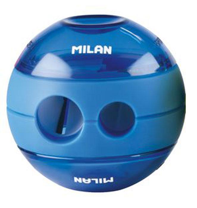 Milan Точилка Sphere с контейнером цвет синий20156212Оригинальная модель точилки Milan Sphere с двумя отверстиями - для затачивания карандашей разных диаметров 11/8 мм. Эффектный дизайн и отличное качество материалов.